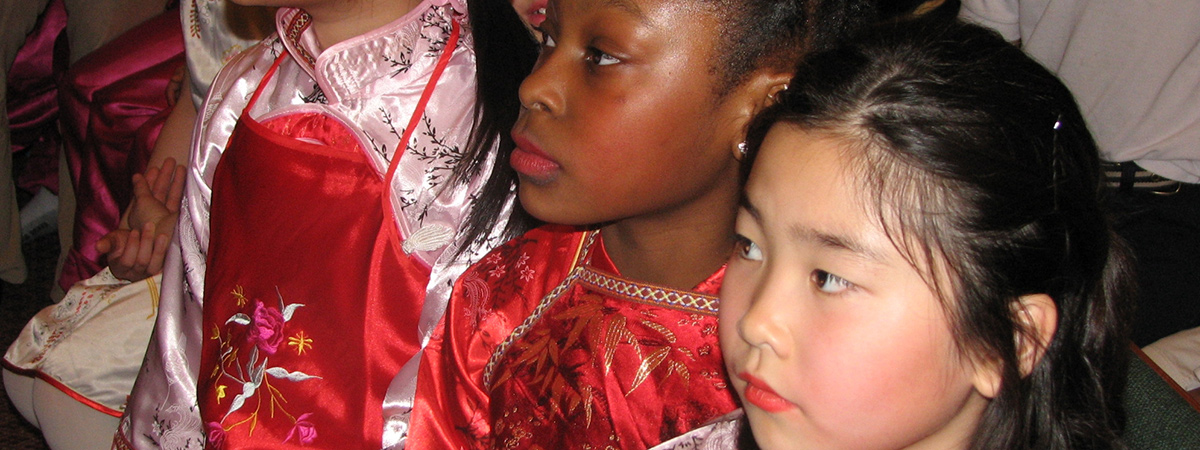 2007 FACTS Lunar New Year – 3 girls in Chinese outfits