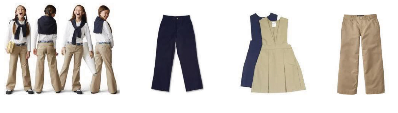 Photo of Pants/skirts - navy blue or khaki